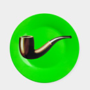 102279_A5_Plate_Magritte_Green_Pipe-1
